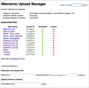 iMemento Upload Manager